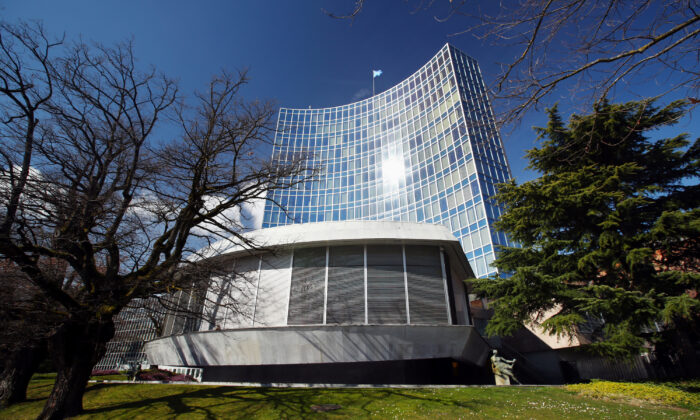 The headquarter of the World Intellectual Property Organization (WIPO) is pictured in Geneva, Switzerland, on March 3, 2020. (Denis Balibouse/Reuters)