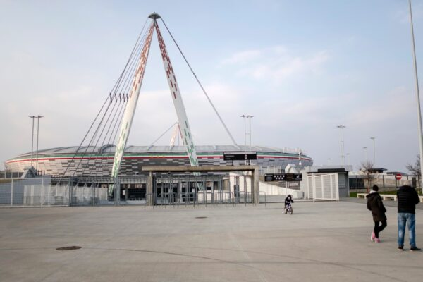 closed Allianz Stadium in Turin-Coronavirus Outbreak