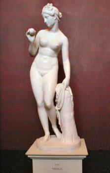 Statue of Aphrodite with Paris's apple