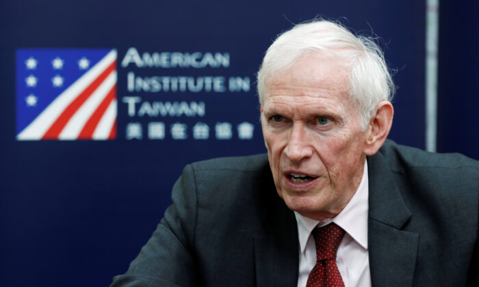 James Moriarty, chairman of the American Institute in Taiwan (AIT), speaks during an interview in Taipei, Taiwan, on April 18, 2019. (Tyrone Siu/Reuters)