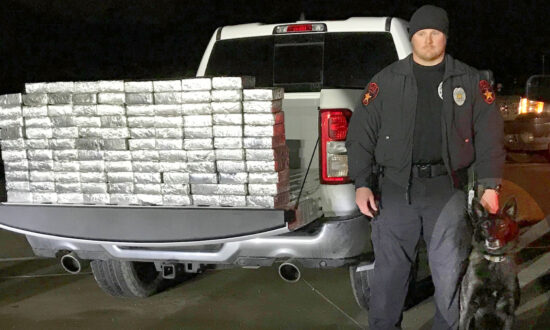 Police Dog Sniffs Out 595lbs of Meth Worth $1.2 Million Hidden in Semitrailer in Texas Drug Bust