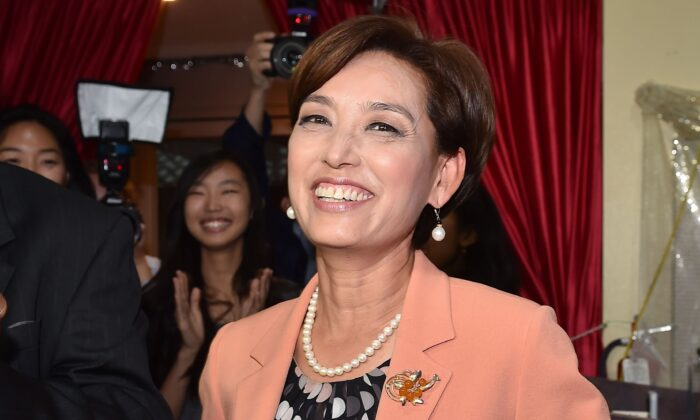 Republican Congressional candidate in California's 39th District Young Kim in Rowland Heights, Calif., on Nov. 6, 2018. (Robyn Beck/AFP via Getty Images)