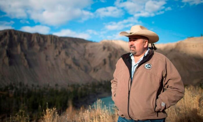Chief Joe Alphonse, tribal chairman of the Tsilhqot'in Nation is pictured at Farwell Canyon, B.C., on Oct. 24, 2014. (Jonathan Hayward/The Canadian Press)