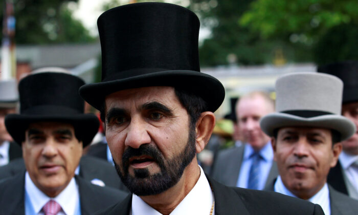 Dubai ruler Sheikh Mohammed bin Rashid al-Maktoum arrives for Ladies Day, the third day of racing at Royal Ascot in southern England on June 16, 2011.  (Suzanne Plunkett/Reuters File)