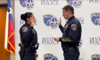 Female Cop Recruit Cries With Joy When Soldier Son Surprises Her at Police Swearing-in Ceremony