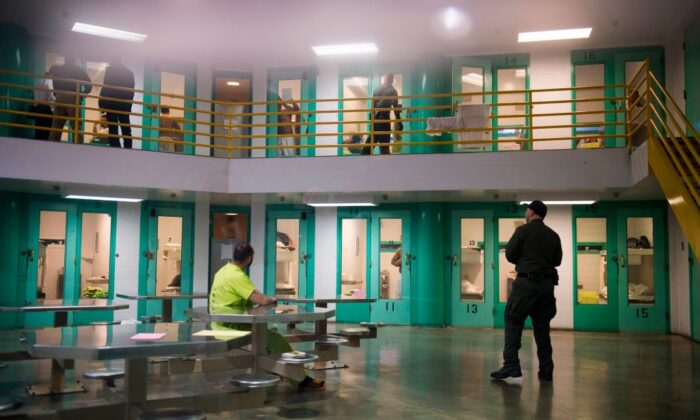 A stock photo shows activity in the Theo Lacy Facility, a county jail in Orange, Calif. (Robyn Beck/AFP via Getty Images)