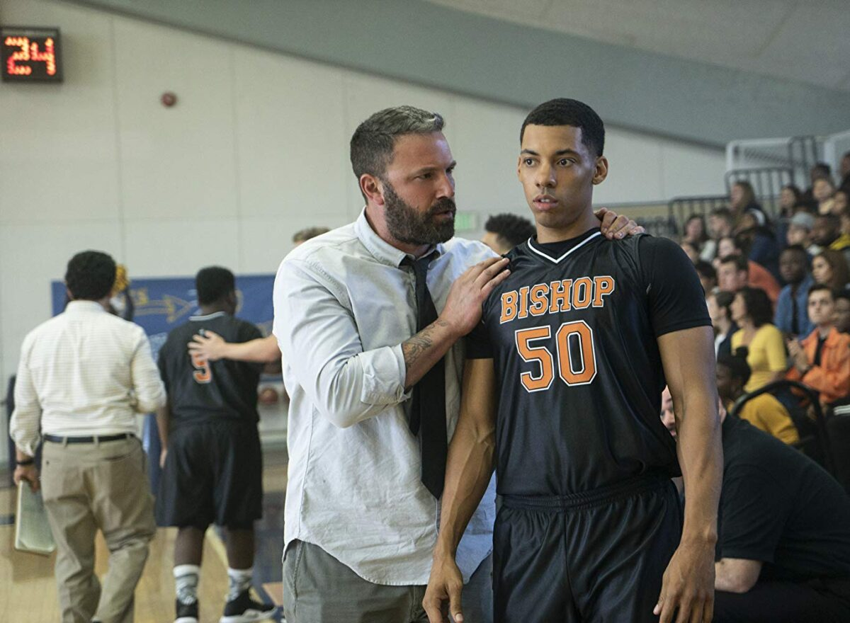 coach and high school basketball player