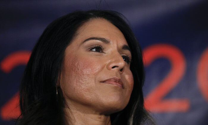 Former Democratic presidential candidate Rep. Tulsi Gabbard (D-Hawaii) at a campaign event in Detroit, Mich., on March 3, 2020. (Bill Pugliano/Getty Images)