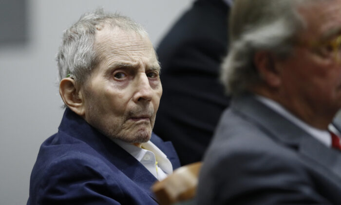 New York real estate scion Robert Durst appears in court in Los Angeles, Calif., on March 4, 2020. (Etienne Laurent/Getty Images)