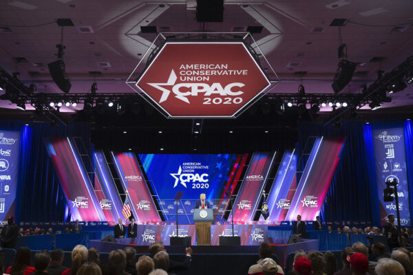 President Donald Trump speaks during CPAC