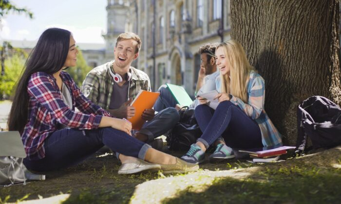 Time in nature can help students de-stress, a critical goal as mental illness rates skyrocket. (Motortion Films/shutterstock)