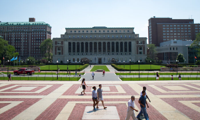 The campus of Columbia University in Manhattan in a file photograph. (Benjamin Chasteen/Epoch Times)