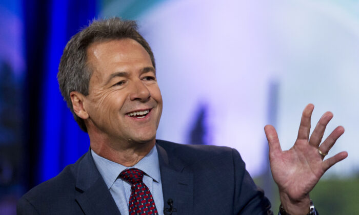 Democratic presidential candidate Montana Gov. Steve Bullock speaks during the Climate Forum at Georgetown University, in Washington on Sept. 20, 2019. (Jose Luis Magana/AP Photo)
