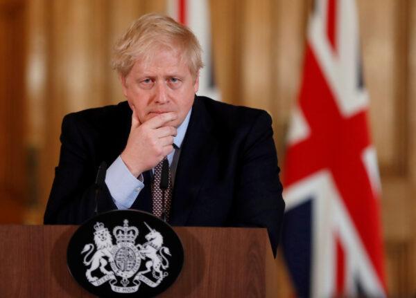 British Prime Minister Boris Johnson speaks