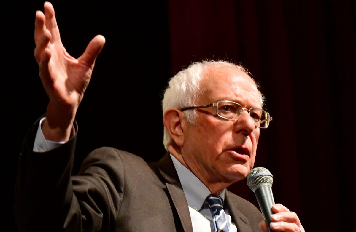 Democratic presidential hopeful Sen. Bernie Sanders
