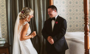 Touching 'First-Look' Photos Between a Bride and Her Brother With Down Syndrome Go Viral