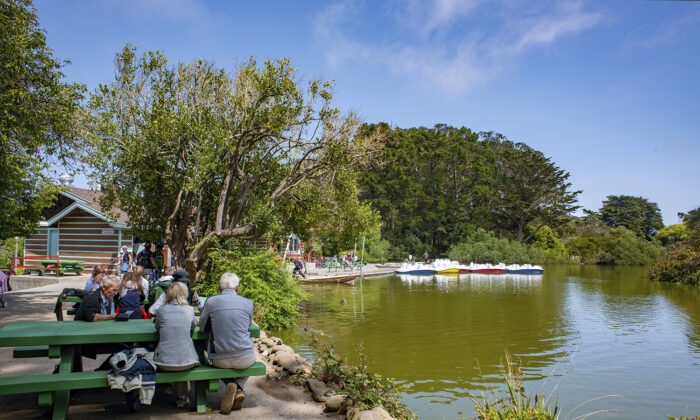 Visitors at Stow Lake at Golden Gate Park. (Courtesy of SF Recreation and Park Department)