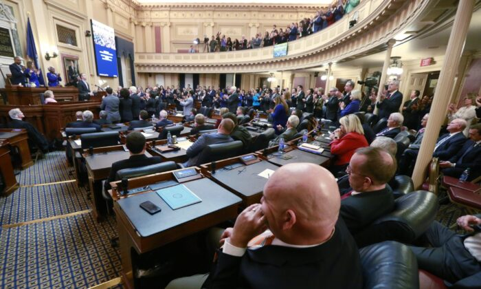A joint session of the Virginia Assembly at the Virginia state Capitol in Richmond, Va., on Jan. 8, 2020. (Steve Helber/AP Photo)