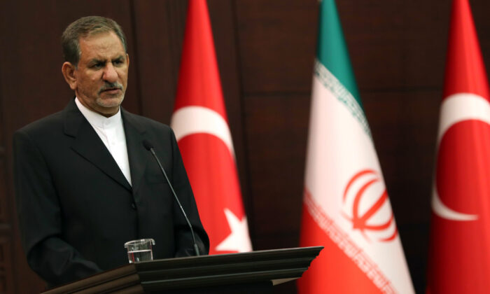 Iran's First Vice President Eshaq Jahangiri on Oct. 19, 2017. (Adem Altan/AFP/Getty Images)