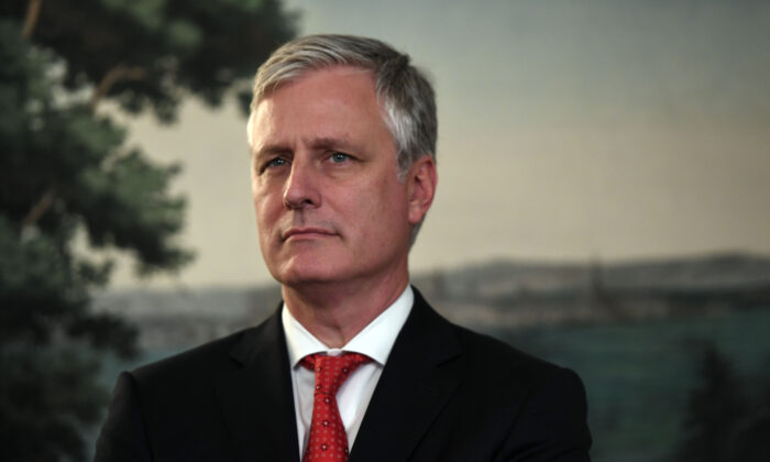 National Security Advisor Robert O'Brien in a file photograph. (Saul Loeb/AFP via Getty Images)