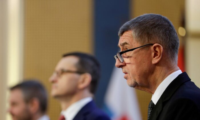 Czech Republic Prime Minister Andrej Babis attends a news conference at a Visegrad 4 summit in Prague, Czech Republic, on March 4, 2020. (David W Cerny/File Photo/Reuters)