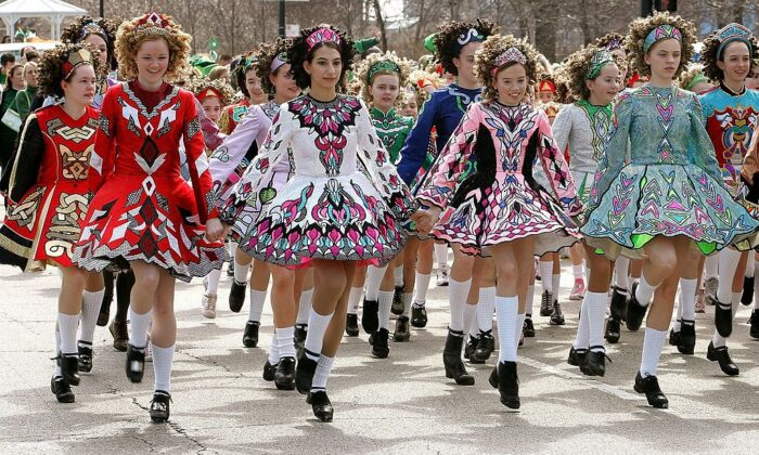 Sheila Tully Irish Dancers perform in the St. Patrick's Day parade in Chicago, in this file photo. (Tim Boyle/Getty Images)