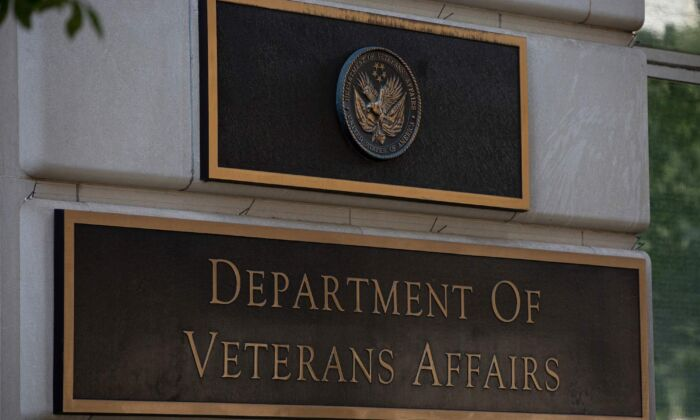 The US Department of Veterans Affairs building is seen in Washington, DC, on July 22, 2019. (Alastair Pike/AFP via Getty Images)