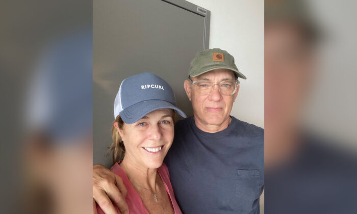 Tom Hanks and Rita Wilson in an Instagram photo. (Courtesy of Tom Hanks/Instagram)