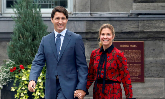 Canada's Prime Minister Justin Trudeau and his wife Sophie Gregoire Trudeau Ottawa, Ontario, Canada, on Sept. 11, 2019. (Reuters/Patrick Doyle/File Photo)