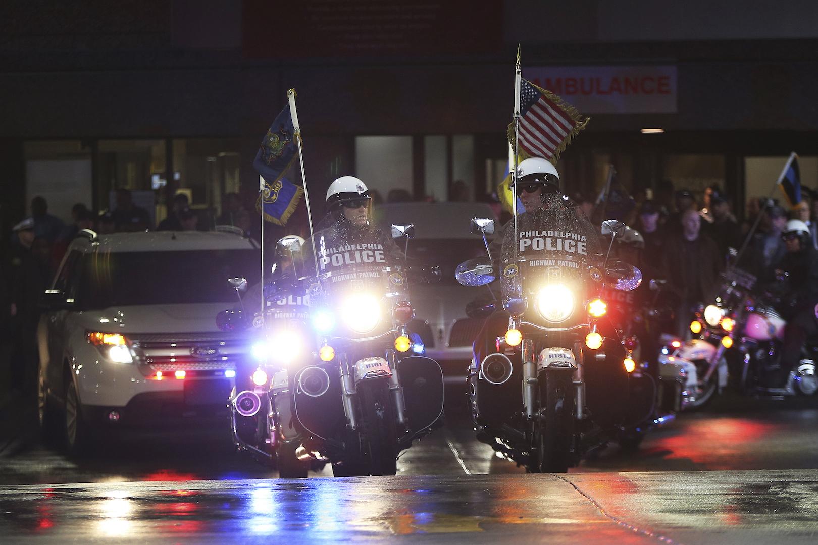Philadelphia police highway patrol officers
