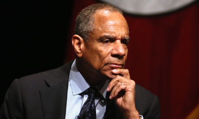 American Express chairman and CEO Kenneth Chenault looks on during the White House Summit on Cybersecurity and Consumer Protection in Stanford, California, on Feb. 13, 2015. (Justin Sullivan/Getty Images)