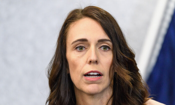 New Zealand Prime Minister Jacinda Ardern speaks to the media during a press conference at the Justice and Emergency Services precinct in Christchurch, New Zealand on March 13, 2020. (Kai Schwoerer/Getty Images)