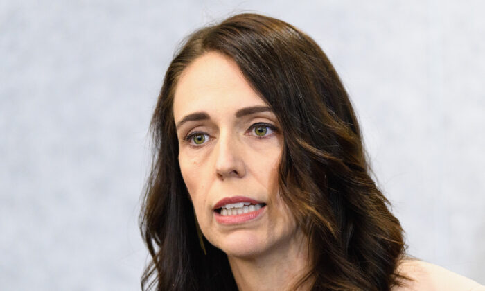 New Zealand Prime Minister Jacinda Ardern speaks to the media during a press conference at the Justice and Emergency Services precinct in Christchurch, New Zealand, on March 13, 2020. (Kai Schwoerer/Getty Images)