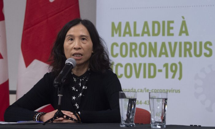Chief Public Health Officer Theresa Tam speaks during a news conference on COVID-19 in Ottawa on March 15, 2020. (The Canadian Press/Adrian Wyld)