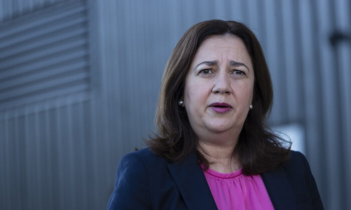 Annastacia Palaszczuk attends the meeting of the Council of Australian Governments (COAG) meeting on March 13, 2020 in Sydney, Australia. (Brook Mitchell/Getty Images)