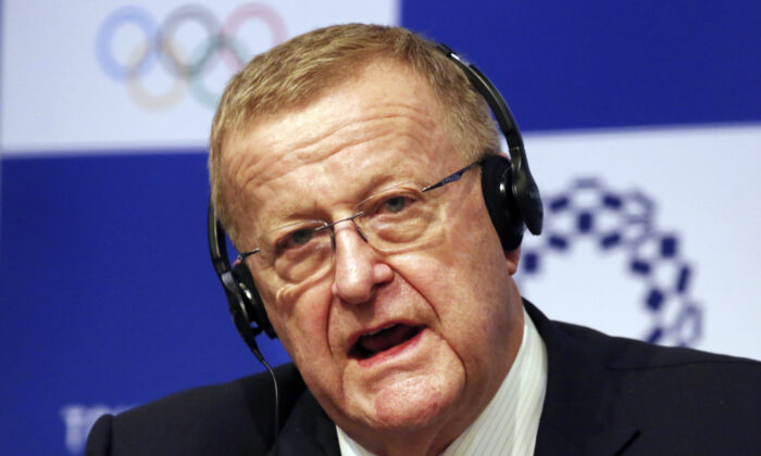 John Coates, the leader of the IOC's coordination commission for the Tokyo Olympics, speaks during a press conference in Tokyo, Japan, on Dec. 5, 2018.(Koji Sasahara/File/AP Photo)
