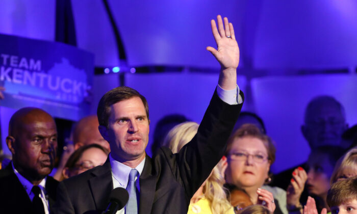Then-governor-elect Andy Beshear in Louisville, Ky., on Nov. 5, 2019. (Josh Sommers II/Getty Images)