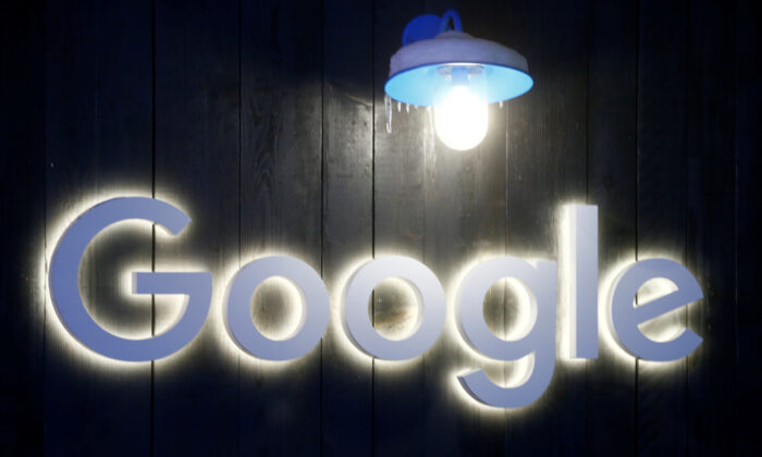 The logo of Google is seen in Davos, Switzerland on Jan. 20, 2020. (Arnd Wiegmann/Reuters)