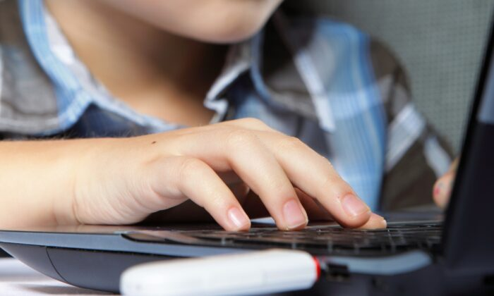 A young boy using a laptop in a file photo. (Illustration/Shutterstock)