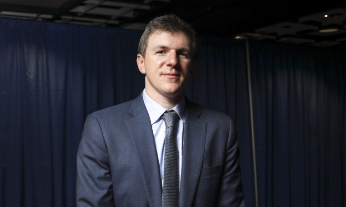 James O'Keefe, Project Veritas Founder at the Values Voter Summit in Washington on Oct. 12, 2019. (Samira Bouaou/The Epoch Times)
