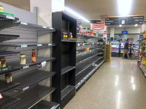empty pasta shelves