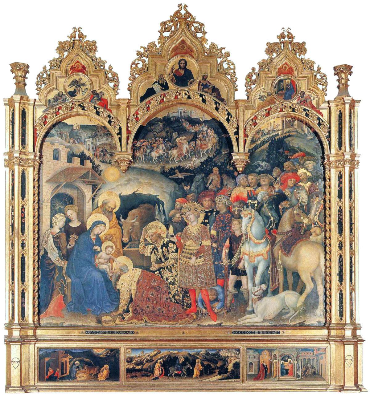 Adoration of the Magi by Gentile_da_Fabriano