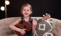 Adorable Little Girl Wins Hearts With Ukulele Cover of Elvis's Classic (Flashback Video)