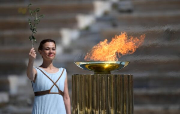 Olympic Flame Handover Ceremony-Greece