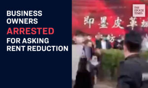 Police Arrest A Protester Seeking Rent Reduction As Outbreak Takes Toll on Chinese Businesses