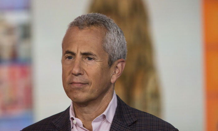"""Danny Meyer, founder and chief executive officer of the Union Square Hospitality Group LLC, listens during a Bloomberg Television interview in New York, U.S., on Tuesday, Aug. 15, 2017. Meyer discussed the hiring challenges in restaurants and his """"employees first"""" philosophy. Photographer: Victor J. Blue/Bloomberg via Getty Images"""