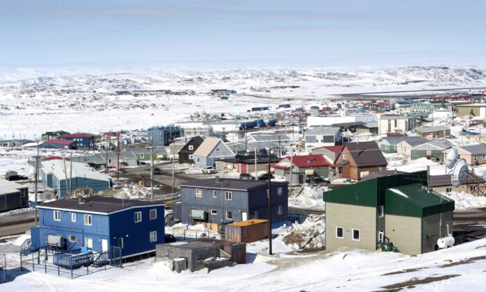 Iqaluit, Nunavut, is seen in a file photo. Nunavut's two main grocers are saying that sales are up since the territory started to go into COVID-19 lockdown, but they continue to be well-stocked. (The Canadian Press/Paul Chiasson)