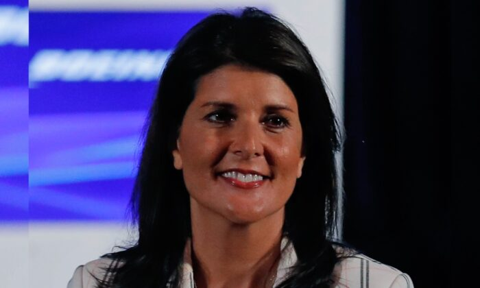 Former U.S. Ambassador to the United Nations Nikki Haley is introduced at the Boeing annual shareholders meeting at the Field Museum in Chicago, Illinois on April 29, 2019. (Jim Young-Pool/Getty Images)