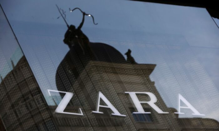 The logo of a Zara store, an Inditex brand, is seen in central Madrid on Dec. 13, 2017. (Susana Vera/File Photo/Reuters)