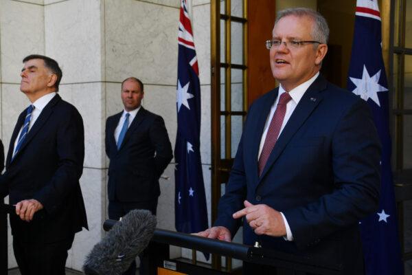 Prime Minister Scott Morrison Announces Further Measures To Stop Spread Of Coronavirus